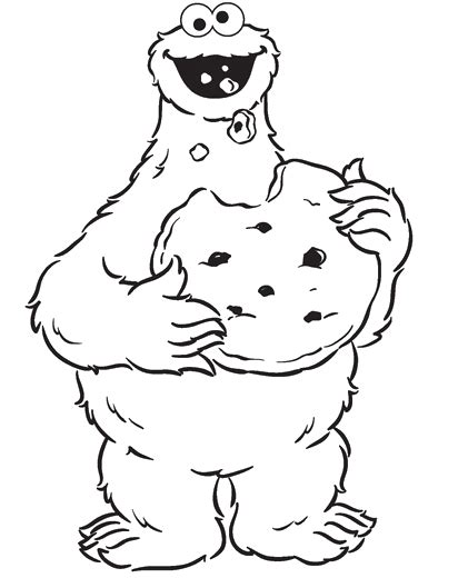 Cookie Monster Eating Cookies Are Great Coloring Pages