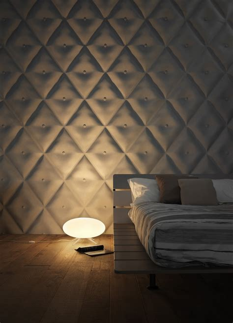 cushioned walls interior awesome modern bedroom decoration using diamond button white leather wall cushion in