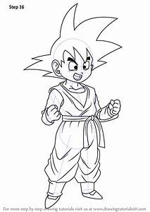 Learn How To Draw Son Goten From Dragon Ball Z Dragon