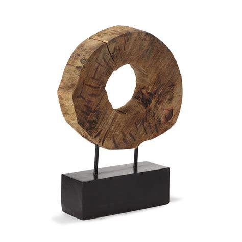 objet d 233 coratif en bois de manguier h37cm naturel mancha