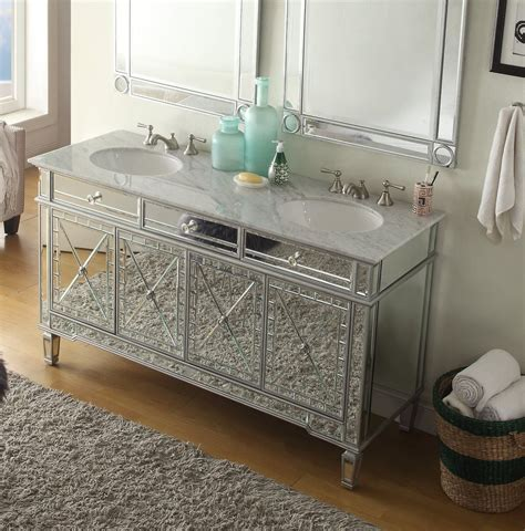 Mirrored Vanities For Bathroom by 60 All Mirrored Reflection Ashlia Sink Bathroom