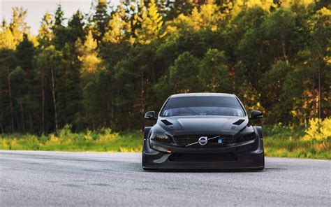 wallpapers volvo  tuning stance road black