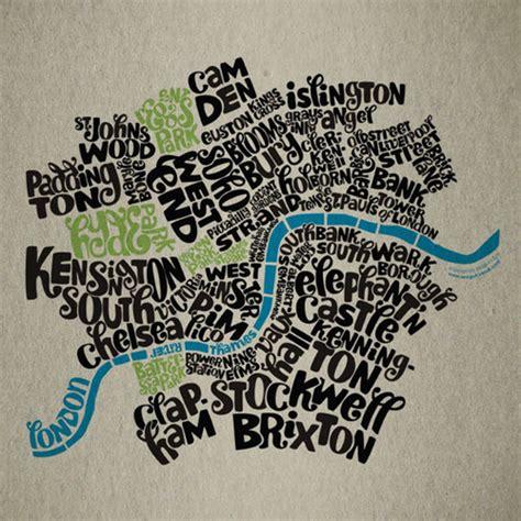 london typography alternative map brucewilsongraphics