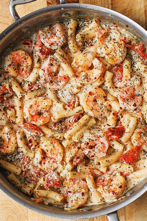easy seafood recipes creamy mozzarella shrimp pasta julia s album