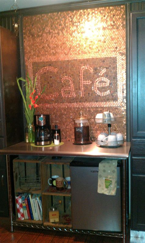 coffee nookalmost    lot  pennies  worth  kitchens   decorating