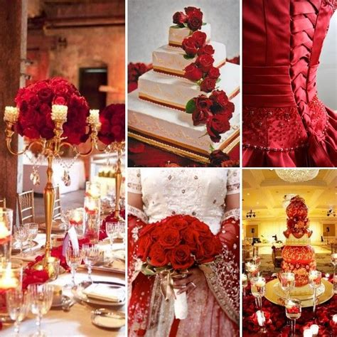 Red and Gold Wedding Inspiration by Gold wedding