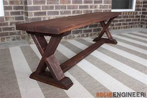 DIY X-Brace Bench - Free & Easy Plans - Rogue Engineer