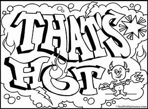 Graffiti Letters Coloring Pages - AZ Coloring Pages