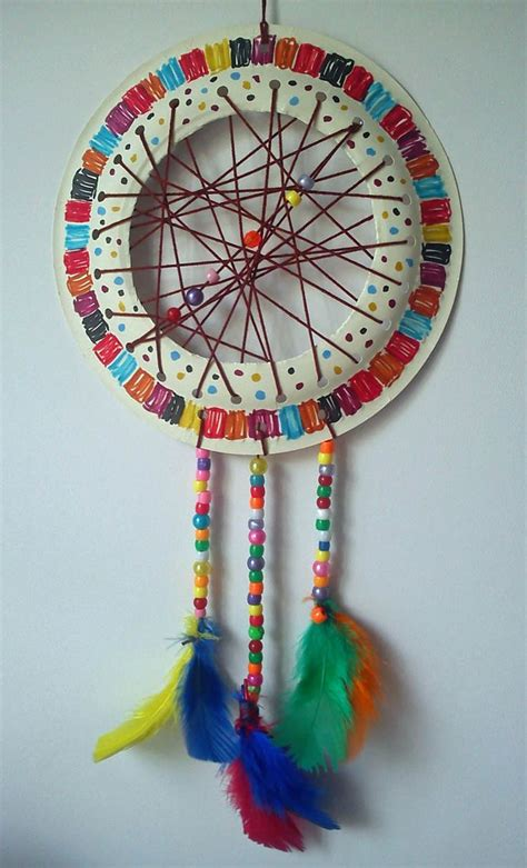 Craft And Activities For All Ages! Paper Plate Dream Catcher Tutorial  Easy And Fun To Make