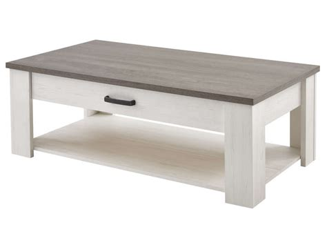 table basse tiroir table basse rectangulaire 1 tiroir duke coloris blanc vente de table basse conforama