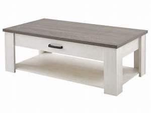 Conforama Table Basse : table basse rectangulaire 1 tiroir duke coloris blanc vente de table basse conforama ~ Teatrodelosmanantiales.com Idées de Décoration