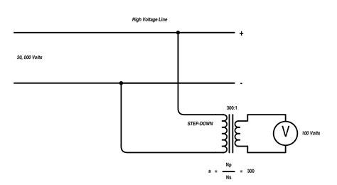 high voltage step transformer wiring diagram components