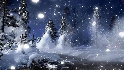 Winter Wallpapers Desktop Season Scenes Snow Night