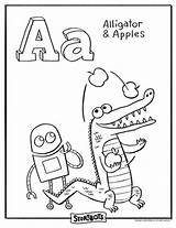 Storybots Abc Coloring Sheets Letter Bots Alphabet Sheet Activity Activities Hooray Apples Words Learning Printables Worksheets Alligators Para Amazing Letters sketch template