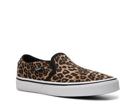 vans asher leopard on sneaker womens dsw