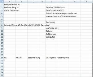 Excel Feiertage Berechnen : rechnungsvordruck in excel erstellen office ~ Themetempest.com Abrechnung