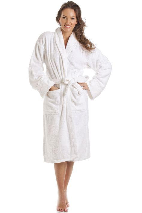 Shower Rob Womens White Towelling Bath Robe