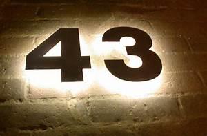 Hausnummer Led Hinterleuchtet : mit led s hinterleuchtete hausnummer aus tombak ~ Sanjose-hotels-ca.com Haus und Dekorationen