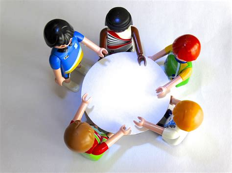 Free Images  Group, Toy, Conversation, Playmobil