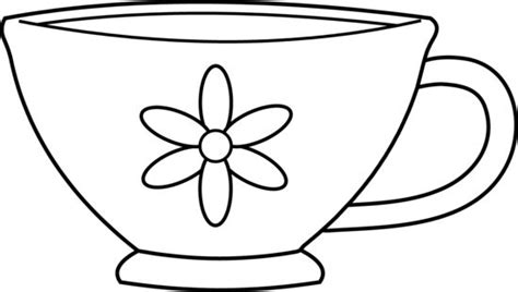 Cute Teacup Coloring Page