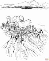 Covered River Coloring Raft Wagons Settlers Pioneer Navigate Printable Supercoloring Frontier Trail Drawing Sheets Horse Activity Activities Westward Dot Bierstadt sketch template