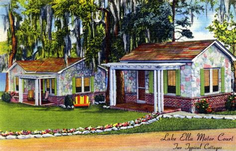 Cottage In Fla by Florida Memory Lake Ella Motor Court Two Typical