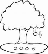 Apple Coloring Pages Tree Printable sketch template