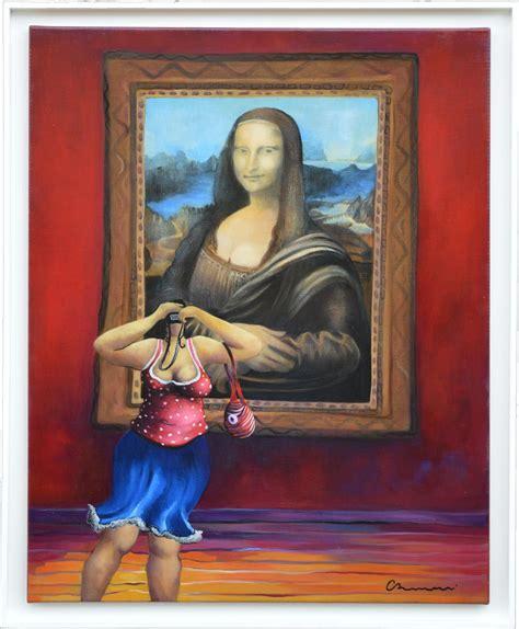 selfie   mona lisa joconde painting corinne