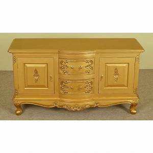 Commode 120 Cm : gold rococo baroque tv commode stand 120 cm ~ Teatrodelosmanantiales.com Idées de Décoration