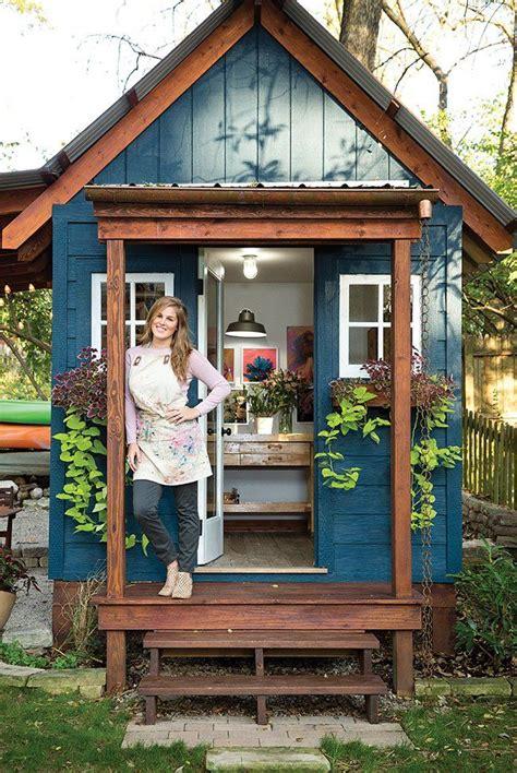 st louis  home magazine artist rachel roes  shed backyard art studio pinterest