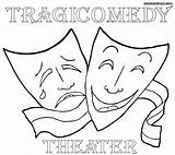 Theater Coloring Masks Colorings sketch template