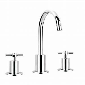 Robinet 3 Trous Lavabo : robinet m langeur de lavabo 3 trous nova chrome achat ~ Edinachiropracticcenter.com Idées de Décoration