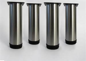 Pied Pour Meuble Salle De Bain : 4 pieds ronds ajustables en hauteur de 18 cm pieds pour ~ Dailycaller-alerts.com Idées de Décoration
