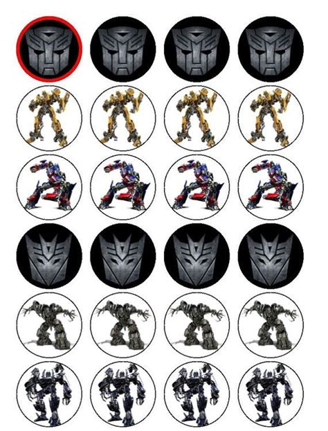 Transformer Cupcake Topper Template by Best 25 Transformer Party Ideas On Pinterest