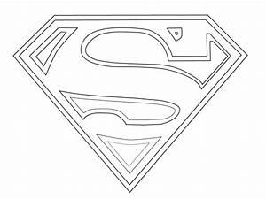 Super Man Logo Coloring Sketch,http://colorasketch.com ...
