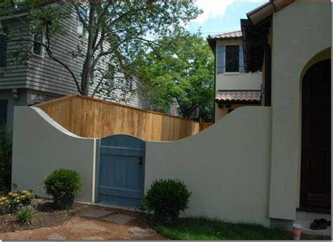 stucco fence ideas stucco fencing divided pinterest