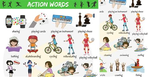 Common Action Words In English  Vocabulary  7 E S L