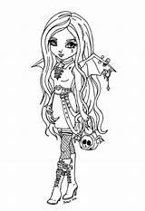 Coloring Anime Pages Vampire Warrior Manga Dark Popular sketch template