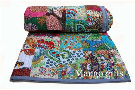 Winter Quilts Comforter Cotton Throw Blanket Quilted