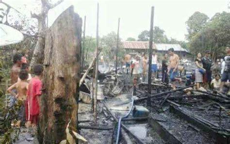 tujuh rumah warga desa asem kumbang hangus terbakar