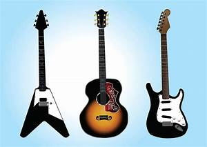Free Guitar Vector Graphics Vector Art  U0026 Graphics