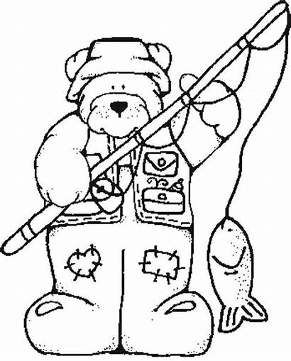 Coloring Pages Outdoor Hunting Bass Fish Clipart