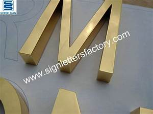 polished brass letter With brass letters for signs