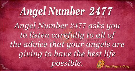 Angel Number 2477 Meaning | SunSigns.Org