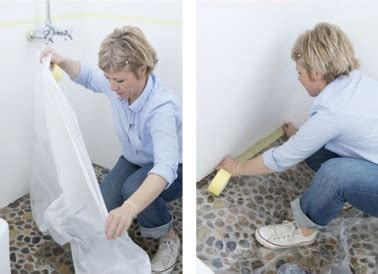 poser b 226 che protection peinture sur sol salle de bain