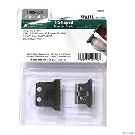 Wahl 2-Hole T-Shaped Replacement Blade for Detailer Razor ...