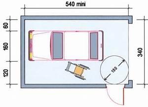 Dimension Garage 1 Voiture : parking handicaps ~ Dailycaller-alerts.com Idées de Décoration