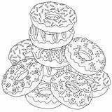 Coloring Rocks Donut sketch template