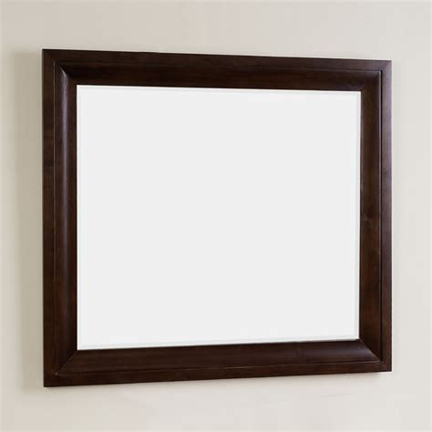 Walnut Bathroom Mirrors by Prelude Rectangle Walnut Finish Wood Framed Mirror 3 2 X