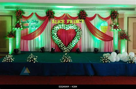 Background Decorations by Wedding Reception Decoration Done At Mass Hotel